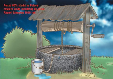 ponad 80% studni w Polsce zawiera wodę niezdatną do picia